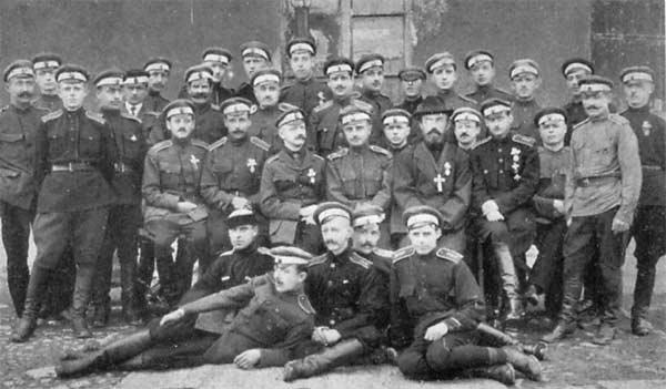 Офицеры дроздовской дивизии 1920 г