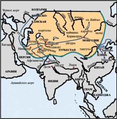 Государство Чингисхана, 1227